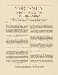 family proclamation the family a proclamation to the world new era
