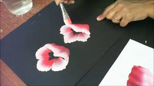 one stroke painting tutorial 8 how to paint half folded flowers