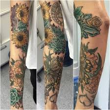 sunflower shoulder tattoo sleeve pictures to pin on pinterest