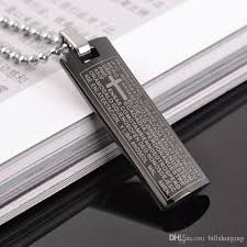 christian jewelry store holy bible scripture cross pendant necklace for men women stainless