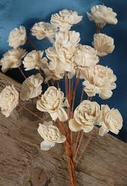 wood flowers sola flowers 12 bouquet 20 1 flowers on wired stems sola