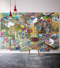 cityscape wall murals australia milton king usa mural