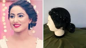 akshara wedding hairstyle akshara hina khan inspired hairstyle for rakshabandhan 2017 rakhi
