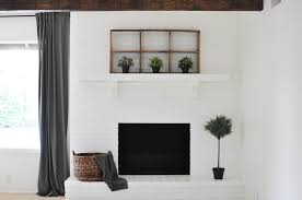 How To Lay Brick Fireplace by Diy How To Paint Your Brick Fireplace U2014 The Copper Anchor