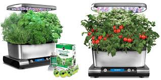 miracle grow vegetable garden led indoor herb garden starter kit