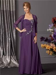 purple mother of the bride dresses line long purple chiffon
