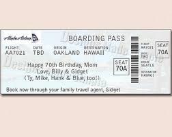 birthday weekend getaway customizable voucher ticket gift card