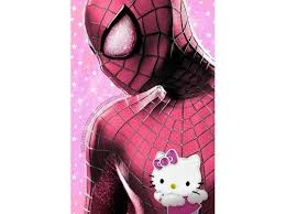 photoshop experts give male superheroes kitty style pink