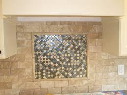interior tumbled marble backsplash with glass mosaic tile marble