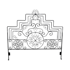 ornate scrolled wrought iron king size headboard chairish