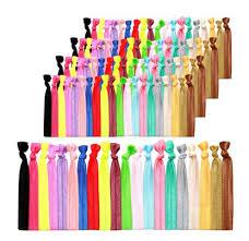 no crease hair ties 100 hair ties elastic ponytail holders no crease knotted fold