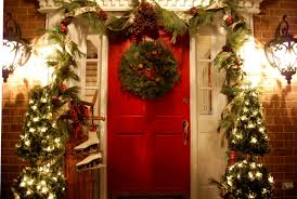 Holiday Wreath Ideas Pictures Decorating Ideas Impressive Front Porch Christmas Decoration With