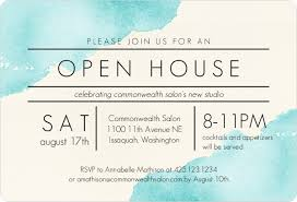 open house invitations modern watercolor corporate open house invitation business open