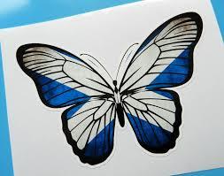 Scottish Flag Tattoo Beautiful Butterfly Car Sticker Scottish Saltire Flag Vinyl Decal