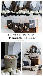 classic black halloween mantel decor so much better with age