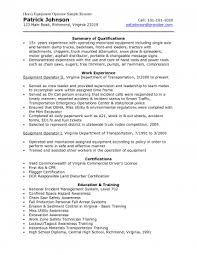 exle of a functional resume functional resume exles for heavy equipment operator summary