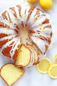 lemon sour cream pound cake recipe cakes glaze and cream