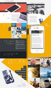 one page responsive portfolio template for designers