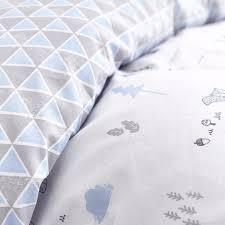 nordic blue cotton duvet cover bela casa home