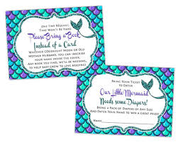 mermaid baby shower mermaid baby shower raffle tickets or books for baby