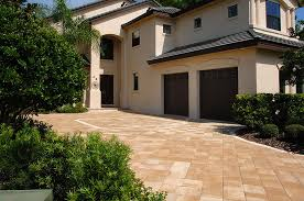 exterior design interesting outdoor floor design with cozy elegant exterior home design with dark garage door and exciting tremron pavers