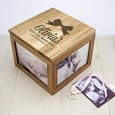 Personalised Keepsake Box Baby U0027s Personalised Oak Photo Keepsake Box U2013 Luxe Gift Store