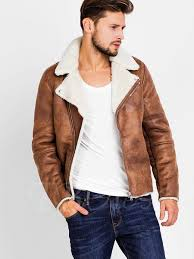 mens moto jacket lapel faux shearling zipper slim men u0027s biker jacket with side
