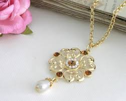 crystal pearl necklace images Victorian style vintage gold chain swarovski crystal pearl jpg