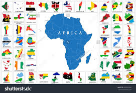Benin Africa Map by Africa Countries Flag Maps Stock Vector 328547582 Shutterstock