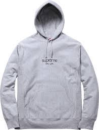 supreme classic logo hooded sweatshirt