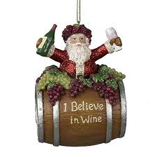 kurt adler 4 inch polyresin santa on wine barrel