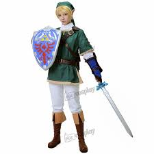 Zelda Halloween Costumes Aliexpress Buy Anime Link Cosplay Costume Legend