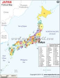 Map Of United States And Capitals by Political Map Of Japan Japan Prefectures Map