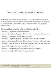 Sample Resume For Sales by Top 8 Sales Coordinator Resume Samples 1 638 Jpg Cb U003d1430016255