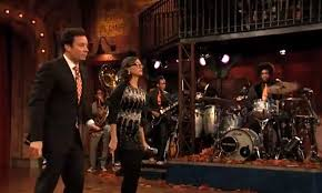 jimmy fallon rashida jones sing a feast mashup