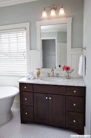 Classy Inspiration Bathroom With Dark Vanity Brown Bathrooms - Dark wood bathroom cabinets