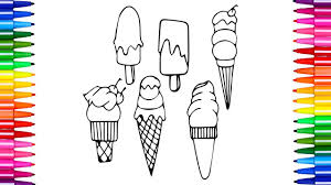 how to draw and color ice cream nursery rhymes creativity