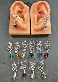 wire ear cuffs birthstone swarovski ear cuff jewelry by