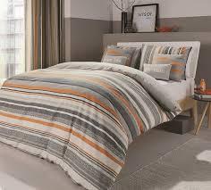 dreams n drapes u0027dexter u0027 crosshatch orange and silver striped