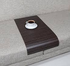 couch arm coffee table amazon com sofa tray table long tago zebrano sofa arm tray