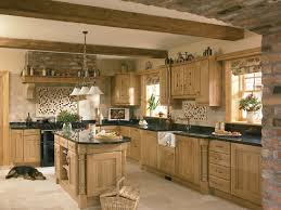traditional french kitchen influenced with roster details yellow