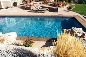 custom built pool and spa design gallery images on charming