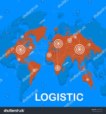 Flat Map Of World by World Logistics Background Map World Global Stock Illustration