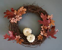 fall wreaths a diy fall wreath with metallic shine