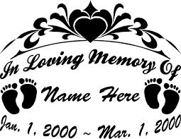 in memory of in memory of 2 baby 11 25 custom vinyl window decals and