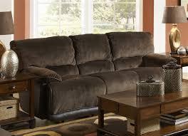 Two Tone Reclining Sofa Power Reclining Sofa In Chocolate Walnut Two Tone Fabric By
