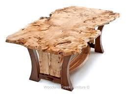 burl wood dining room table our craftsman table features an asymmetrical live edge burl wood
