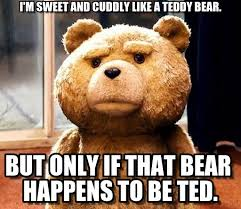 Bear Stuff Meme - i m sweet and cuddly like a teddy bear ted meme on memegen