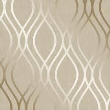 henderson interiors camden wave wallpaper cream gold h980530