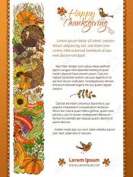 vector thanksgiving template traditional festive food and autumn